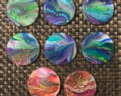 Needle Minder - Hand-Painted Wooden Disc with Resin