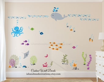 Sea Wall Decal Etsy - Locations where sell wall decals