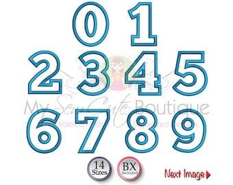 Number Appliqué Design - 14 Sizes - Instant Download