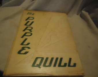 Vintage 1954 The Purple Quill Ball High School Yearbook or Annual, Galveston Texas, collectable
