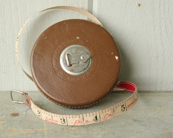 Antique 50 Ft Carpenter's Measuring Tape the Lufkin Rule Co