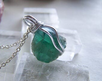 Rogerley Fluorite Color Changing Natural Gemstone Pendant