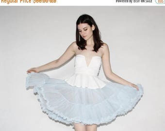 FLASH SALE - Vintage 50s Crinoline - 50s Pastel Blue Crinonline - The Sky is Falling Skirt  - 8077
