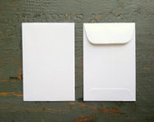 """CLEARANCE! 100 Standard Size Seed Packet Envelopes, Eco Friendly White Seed Packets for Wedding or Shower Favors, Recycled, 3"""" x 4.5"""""""