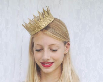 """Wicked Queen Gold Crown -  """"Wicked Crown"""" - halloween costume, princess crown, birthday crown"""