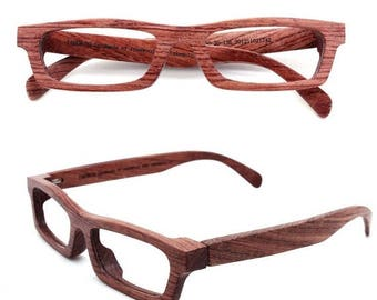 20% off SUMMER SALE TAKEMOTO Love-Wood handmade red rosewood wooden eyeglasses glasses frame Free shipping