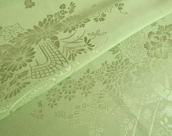 Japanese pure silk from Kyoto Green Traditional pattern 19inch