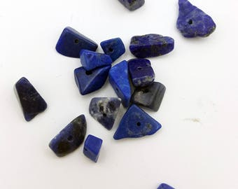 Lapis Beads, Blue Beads, Natural Gemstone Beads, Blue Chunk Beads, Beads for Jewelry Making, Blue Lapis Chip Beads, Chunk Beads, Blue Lapis