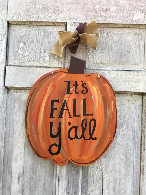 Pumpkin door hanger,  Autumn door hanger, Chevron pumpkin sign, Halloween Door hanger, Fall door hanger. Halloween decoration