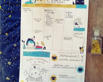 Notepad illustrated weekly Planner