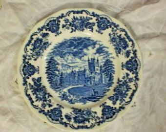 "WEDGEWOOD BALMORAL CASTLE IRoNSTONE STaFFORDSHIRE ENoCH LtD Plate 10"""