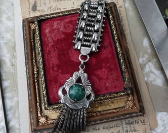 Antique French Silver Fob, Gorgeous Old World Adornment, offered by RusticGypsyCreations