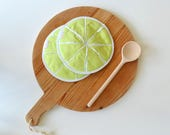 slice of green lime potholder - one slice of lime for Debby