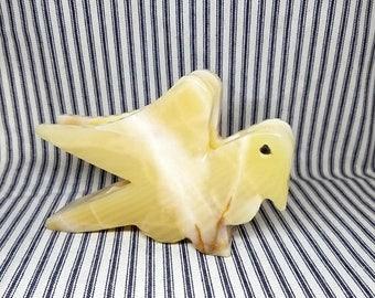 Yearly Big Sale: Carved Stone Bird Napkin Holder, Agate Onyx Marble, Bill Holder Desk Organizer