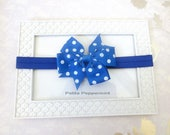 Blue Baby headband, baby girl headband, newborn headband, toddler headband, girl hair bow, baby hair bow, royal blue hair bow, hair clip