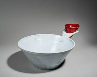 Salad bowl, large salad bowl, ceramic salad  bowl, red bowl, blue salad bowl, pasta ceramic bowl, salad serving bowl, wedding gift