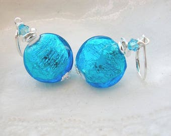 Blue Murano Glass Earrings - Exclusive