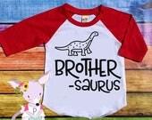Big Brother Shirt Brother Saurus Shirt Raglan Tee Dinosaur Big Brother Shirt Raglan Baby Announcement Shirt Pregnancy Announcement Hipster