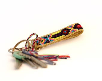 Jalisco Mini Leather Keychain