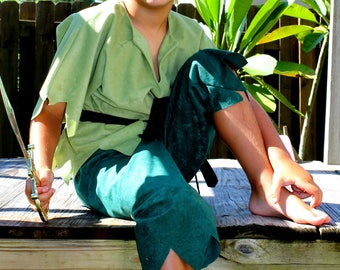 Peter Pan or Robin Hood inspired Boy Costume toddler through kids sizes up to 10 years old for boys