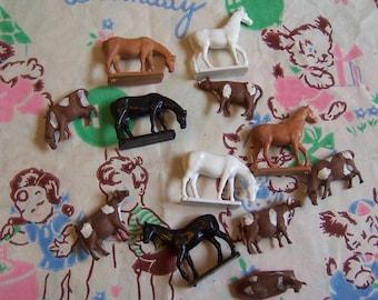 one dozen tiny farm animals