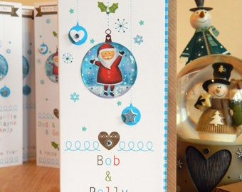Christmas happy santa beautiful card. Merry Christmas special personalised