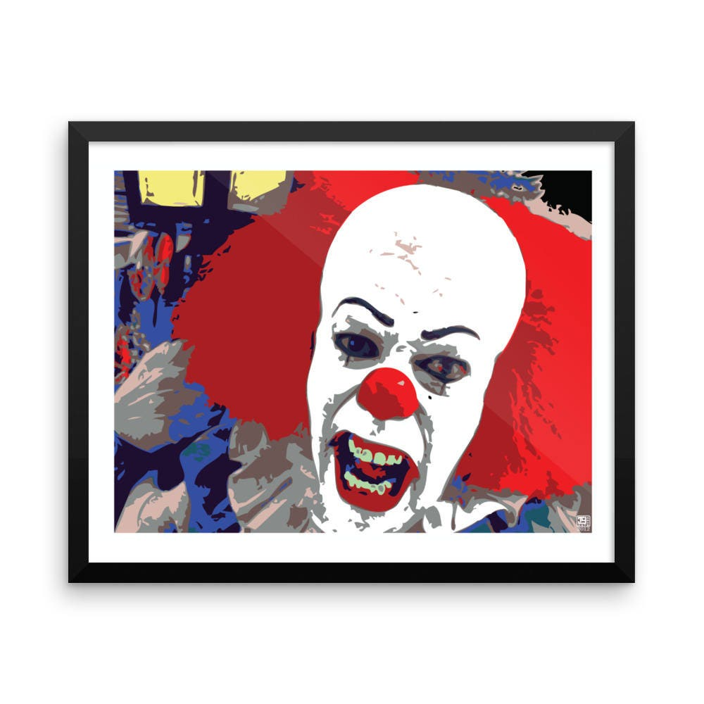 it pennywise the clown pop art wall art home decor prints