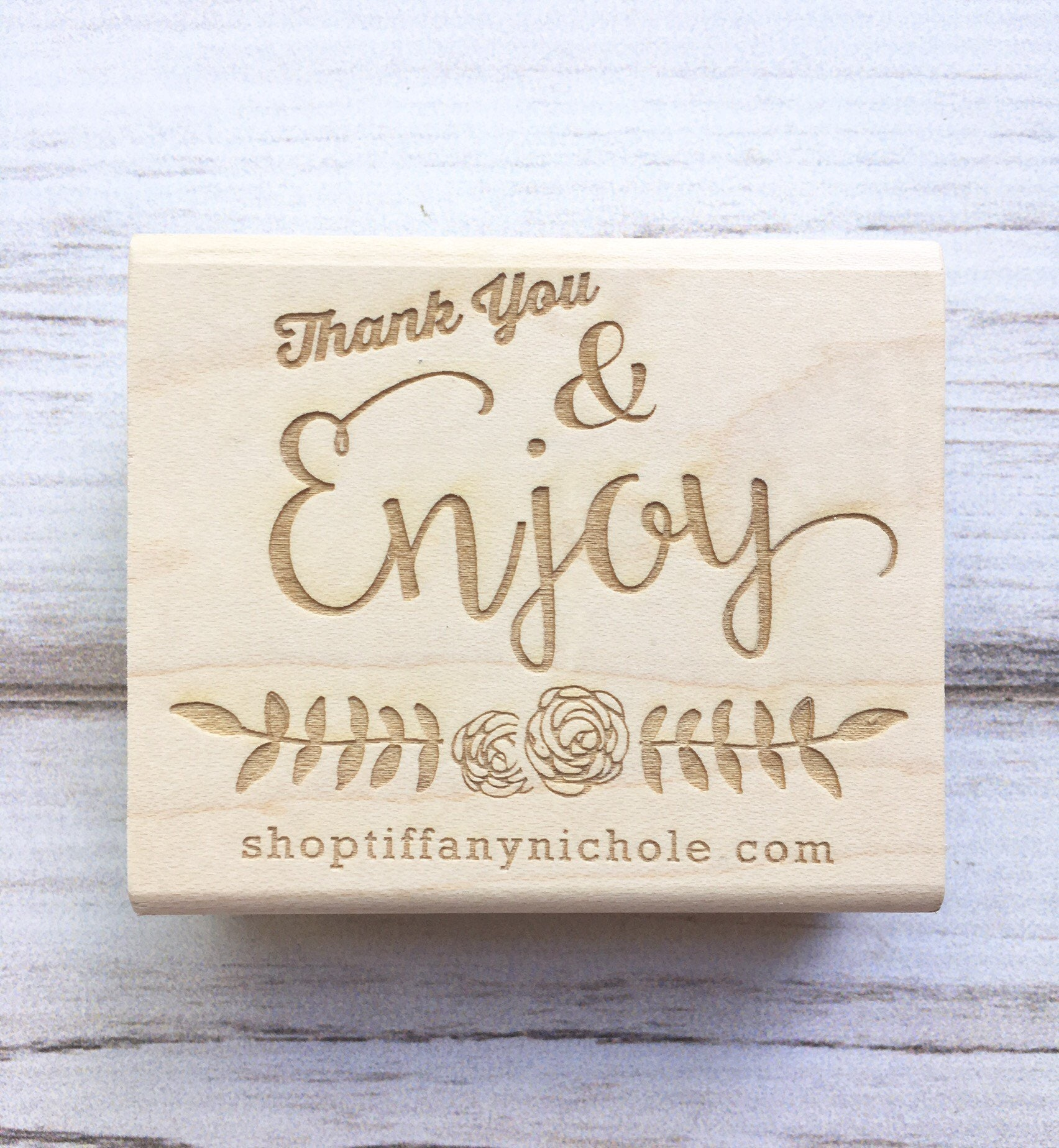 Thank You Stamp Website Business Name Enjoy Calligraphy