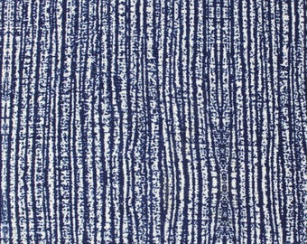Navy Blue and White Wood Grain Marble Look Brushed Poly Spandex Knit, 1 Yard