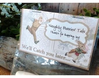 Flopsy Bunnies' Tails - Marshmallow Party Favor Kit - Farmer McGregor