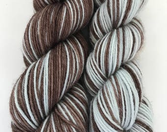 Haunted Wood/Clear and Frosty Polar Opposites... Canon Hand Dyes William Self Striping Superwash Sock Yarn