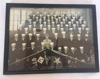 1951 Naval Training Center Great Lakes Group Photo