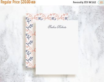 ON SALE Personalized Note Card Set // Rustic Vine
