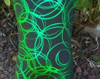 Green foil leotard or biketard for dance/gymnastics/swimming long or short sleeve- girl's sizes