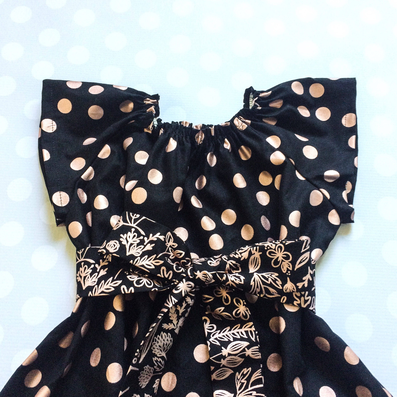 Rose Gold Dress Black And Rose Gold Girls Fall Dress Girls