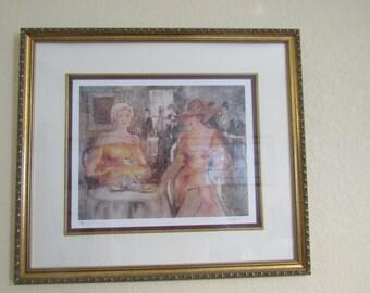 "Vintage KOLISMAN "" Tranquility"" Signed Limited Edition Lithograph-- Framed"