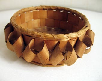 antique curlicue bark basket