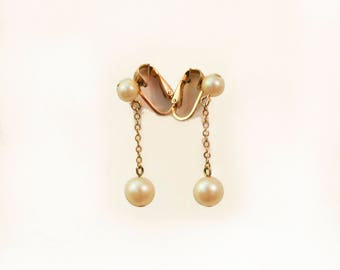 Richelou Pearl Drop Ear Clips