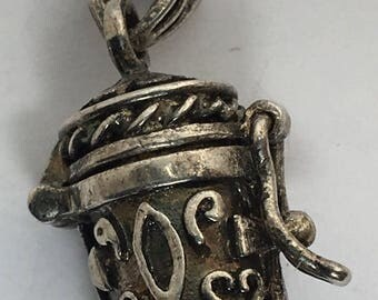 Vintage Silver Charm Beer Charm Tankard 925 Decorative