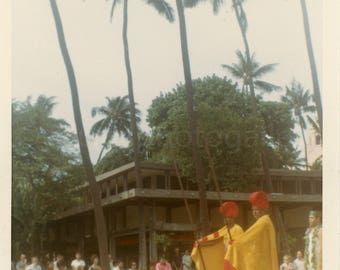Vintage Photo, Aloha Week, Waikiki Parade, Hawaii, Indigenous Costumes, Color Photo, Snapshot, Old Photo