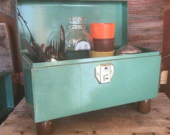 Storage Caddy, Counter Storage, Codiments, Kitschy, Kitchen,Bath, Industrial Look, Office Storage, Versatile