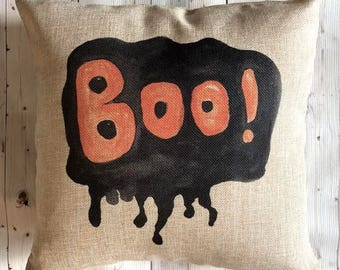 Halloween Pillow Cover - Halloween Decorations - Halloween Party Decor Ideas - Black and Orange - Fall Decor Halloween Decor - Scary Pillow