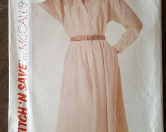 VINTAGE McCall's Stitch N Save 9509 Misses Dress 12-16 (1985)
