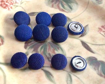 Navy Cloth Buttons