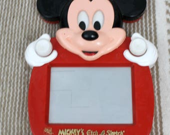 Vintage Disney Mickey Mouse Etch A Sketch Handle Stand