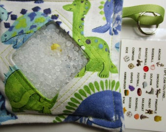 I Spy Bag Game, Dinosaurs, Boys contents, car vacation travel toy, Eye Spy Game, seek and find, sensory occupational therapy, busy bag, gift
