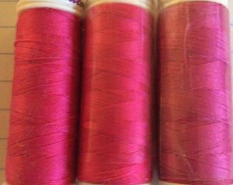 SALE three spools thread ,Mettler Silk finish, item 21