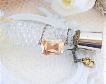 Crystal Choker, Art Deco Necklace, Champagne Jewelry, Champagne Gold, Old Hollywood, Estate Style Necklace, Estate Jewelry, Gold Choker