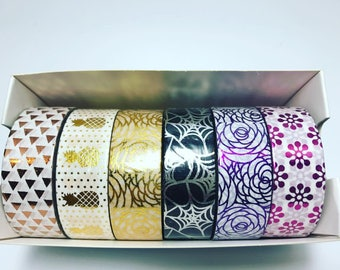 WASHI TAPE (Set of 6 Assorted Styles)
