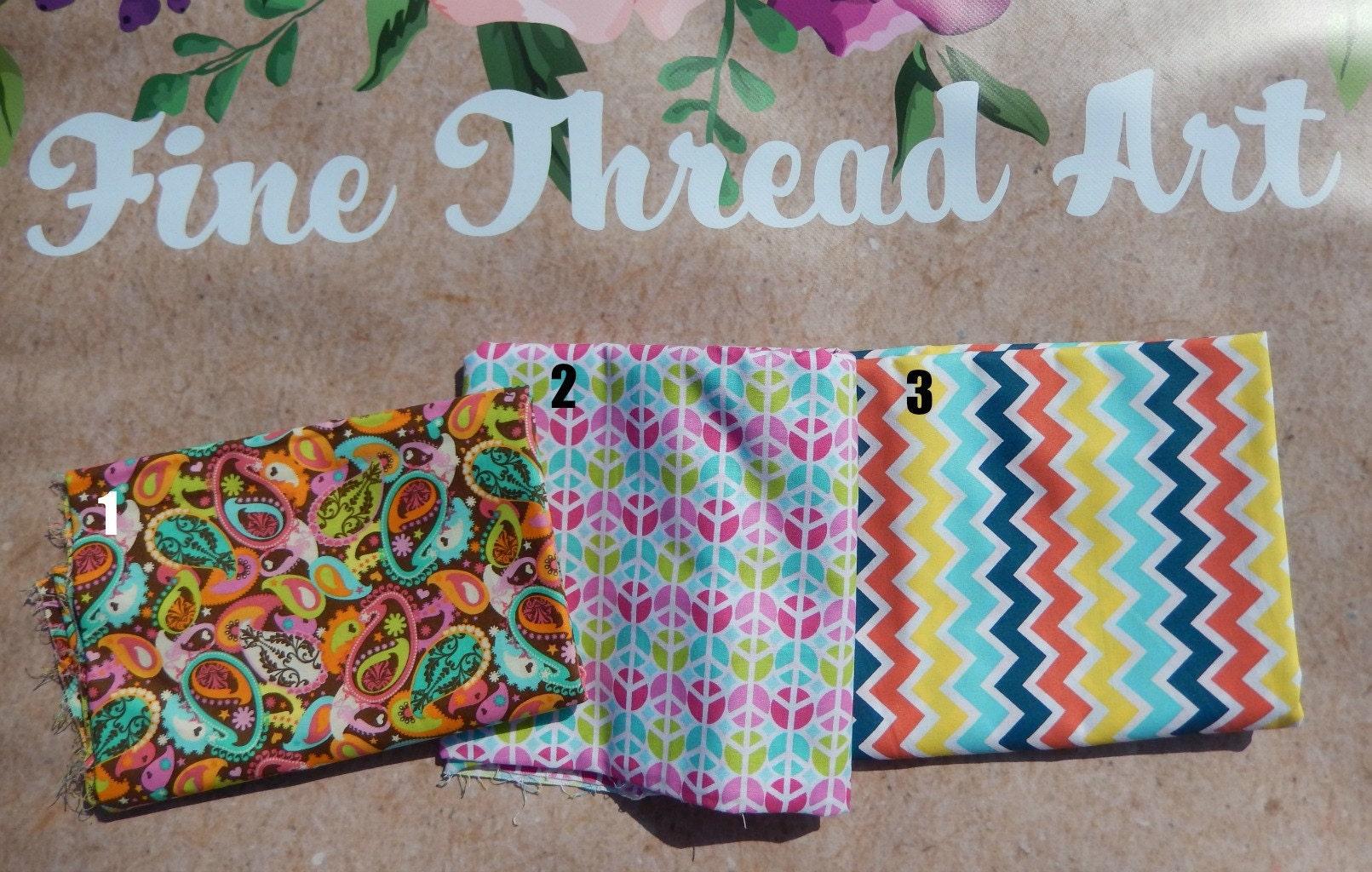 Multi Color Print Applique Fabric